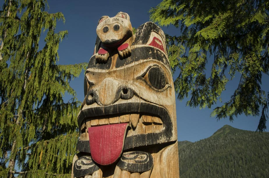 Totems are found all over North America as standing examples of Native American art.