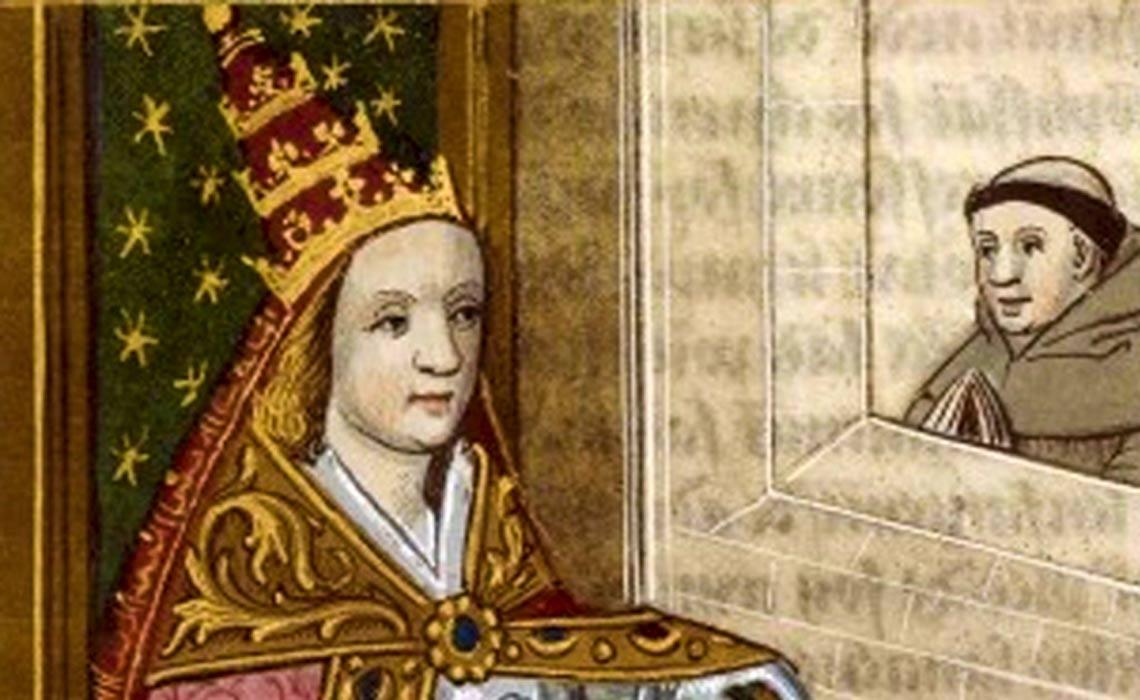 The female pope Joan