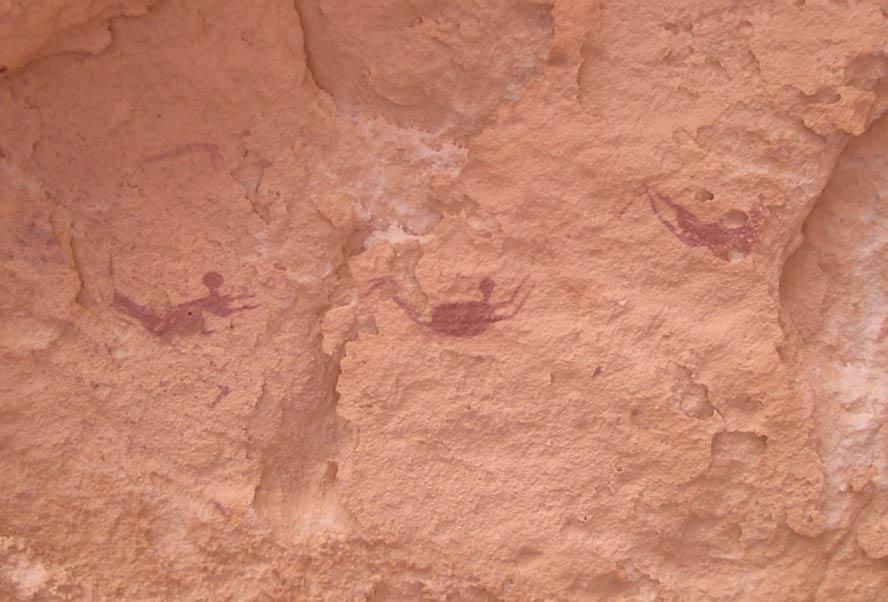 People have speculated the figures in Egyptian cave paintings are swimming.