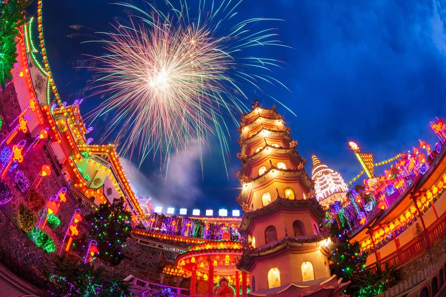 Fireworks are popular in New Year's traditions around the world