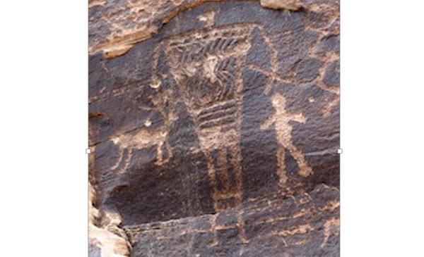 Giants - Rock art in Arizona