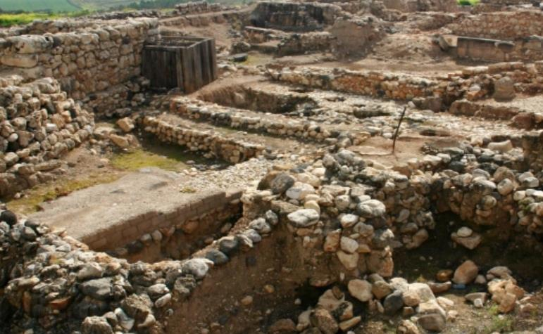Image result for images of ruins of hazor