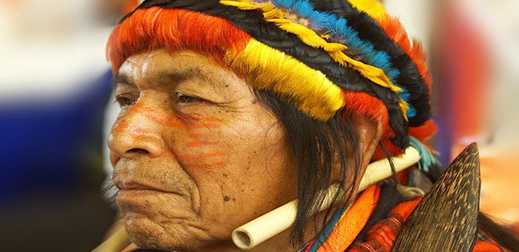 Pwanchir Pitu, Achuar shaman of Ecuador. (Ben2/Public Domain)