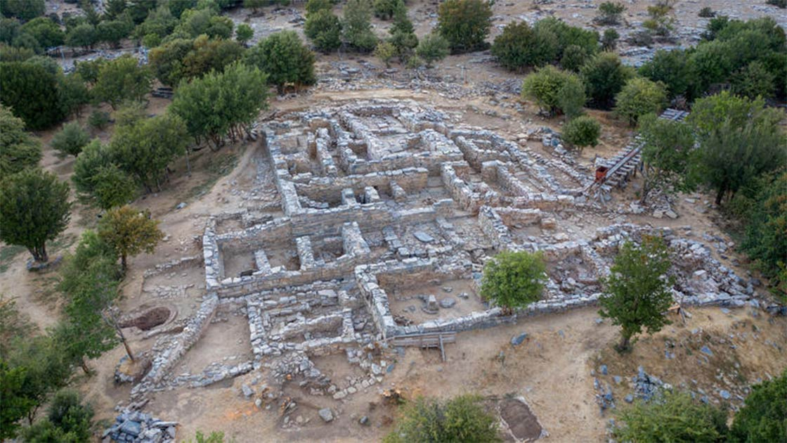One of the new room complexes found at Zominthos where the Minoan religious sanctuary was also found recently.   Source: Ministry of Culture