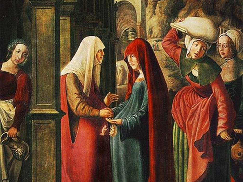 'Meeting of Mary and Elisabeth' by Marx Reichlich. (Deriv.)