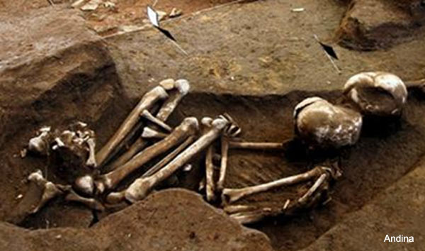 Human remains - Marcavalle culture