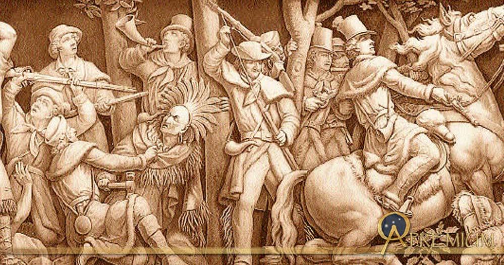 Death of Tecumseh, Frieze of the United States Capitol Rotunda (Public Domain)