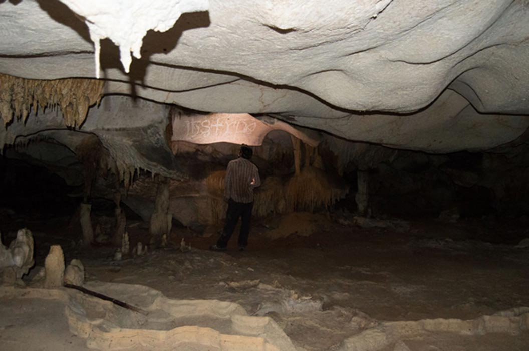 Inside one of the caves on Mona Island.