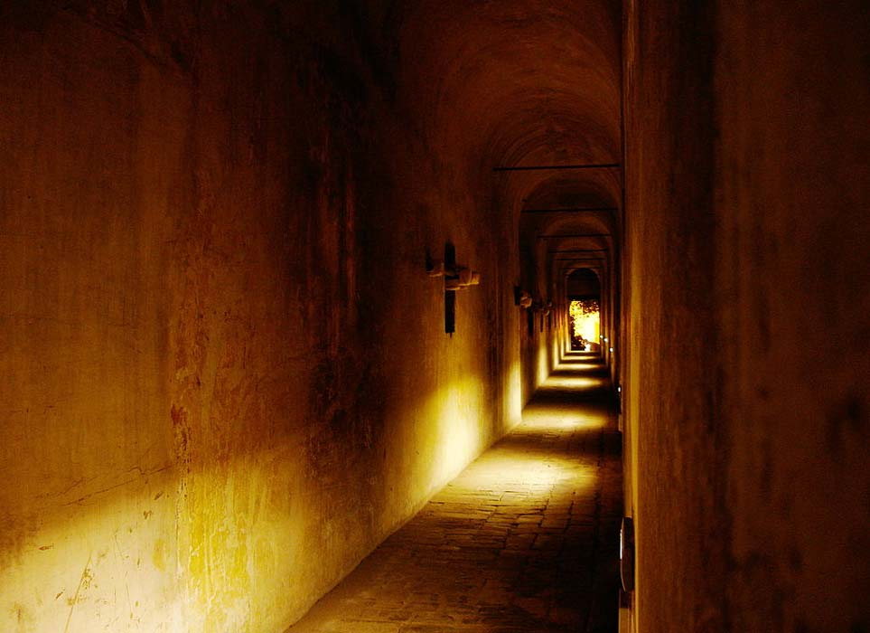 More details View of inside the Passetto, the secret passage between Vatican City and Castel Sant'Angelo in Rome, Italy