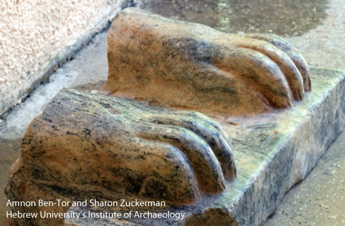 Israel Egyptian sphinx paws