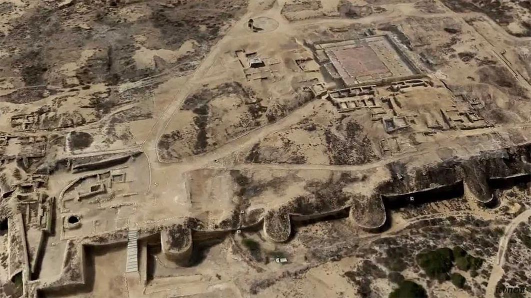Aerial View of Banbhore, where the largest ancient ivory workshop has been found.   Source: Engr.aly / CC BY-SA 4.0