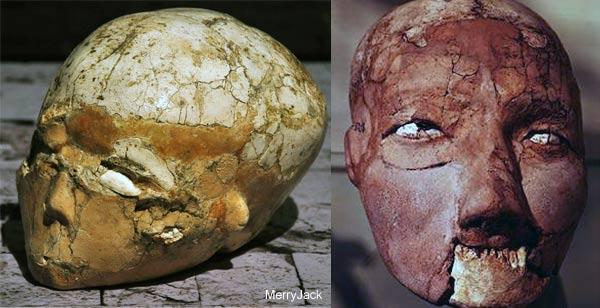 Jericho Plaster Skulls