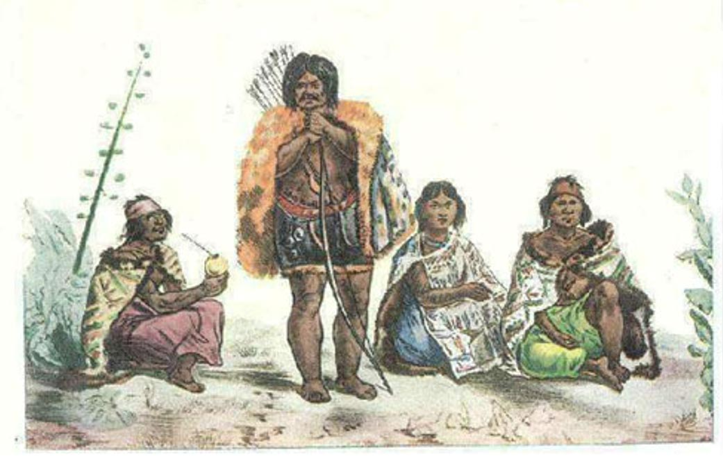 Illustration of The last of the Charrúas (1833), Delaunois
