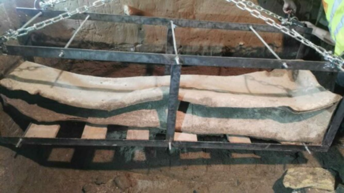 The lead sarcophagus found in Granada, Spain is believed to come from the Roman period. Source: Granada Hoy