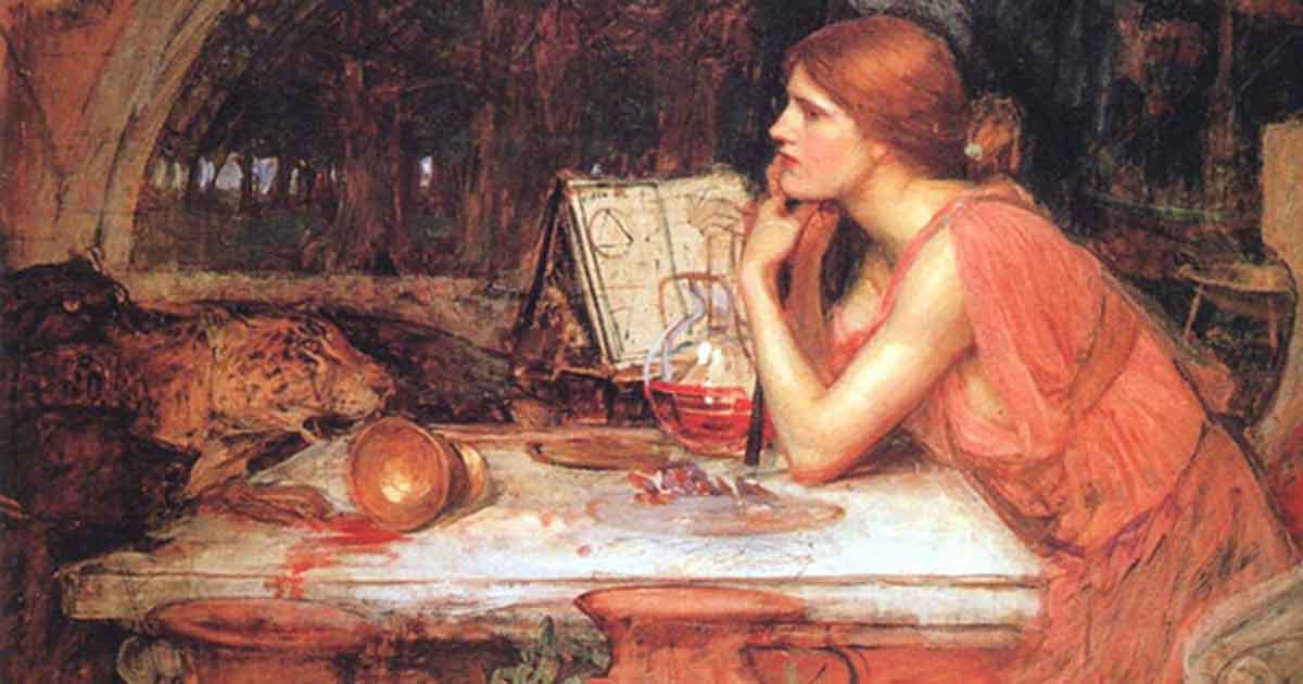 The Sorceress by John William Waterhouse