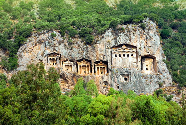 Ancient Lycian Rock cut Tombs
