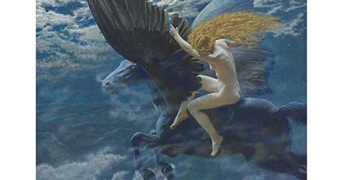 Dream Idyll (A Valkyrie) by Edward Robert Hughes