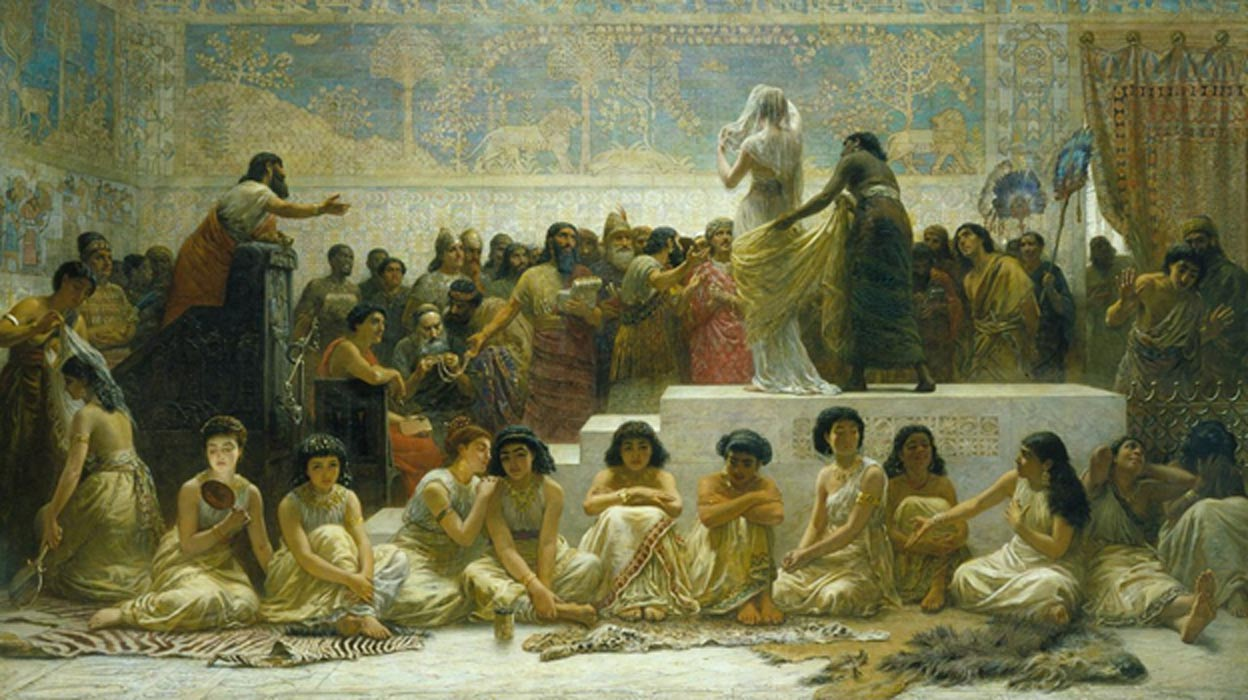 Edwin Long's The Babylonian Marriage Market.