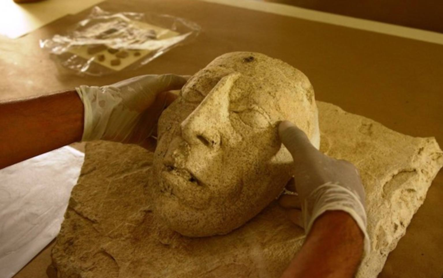 Newly unearthed mask of Pakal