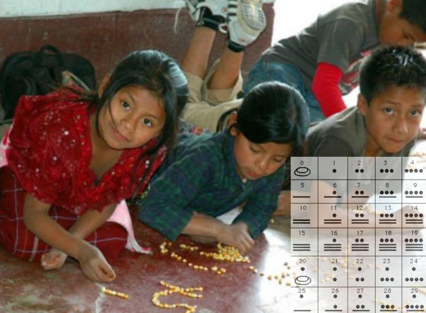 Children learning math, Yucatan, Mexico