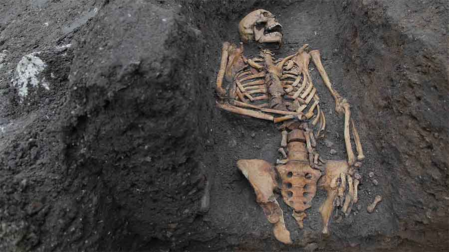 HALF of the Men Found in Medieval Paupers' Cemetery Had Broken Bones