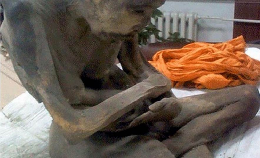 The body of Shinnyokai Shonin, found in Oaminaka, Japan
