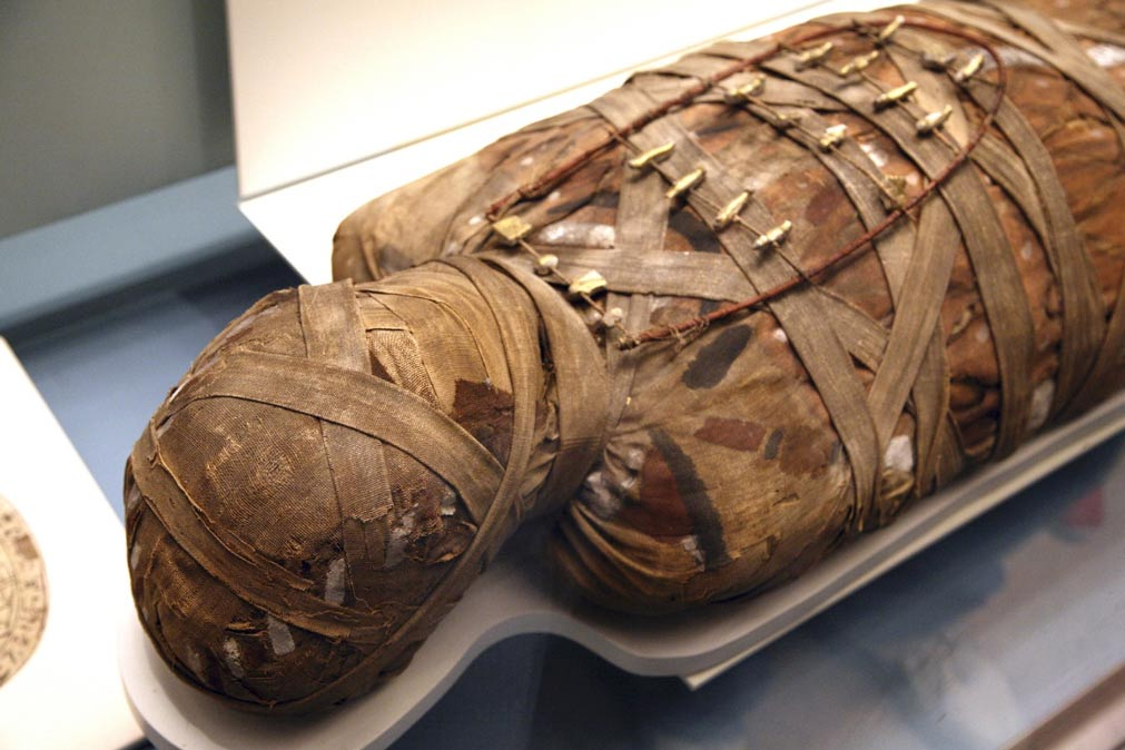 An Egyptian mummy wrapped in linen (representational image only)