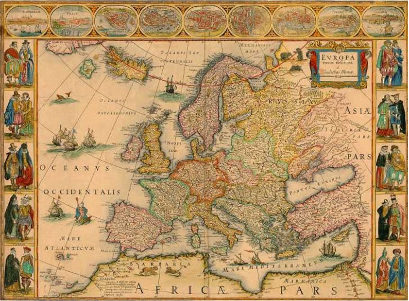 An old map of Europe