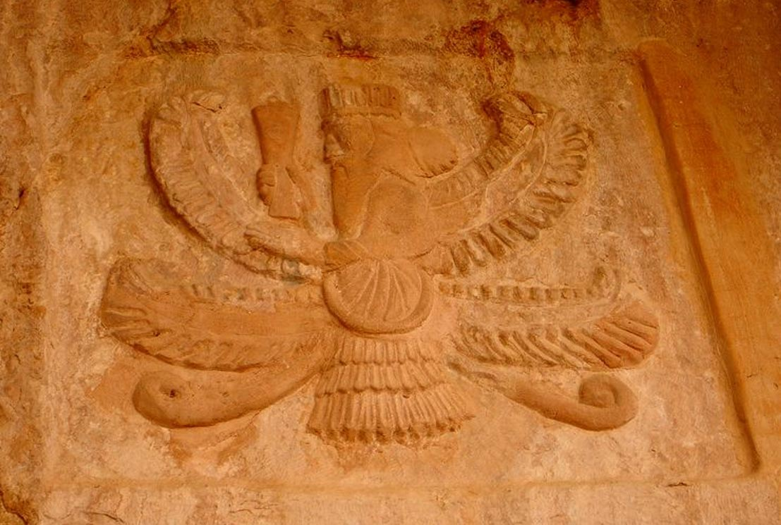 A old tomb of the Zoroastrianism religion in the Sulaymaniyah province, Kurdistan. The inside has been robbed and is empty.