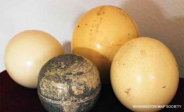 Oldest Globe of New World Carved on Ostrich Eggs