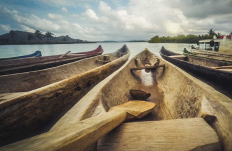 Wooden canoes. Credit: hanohiki / Adobe Stock