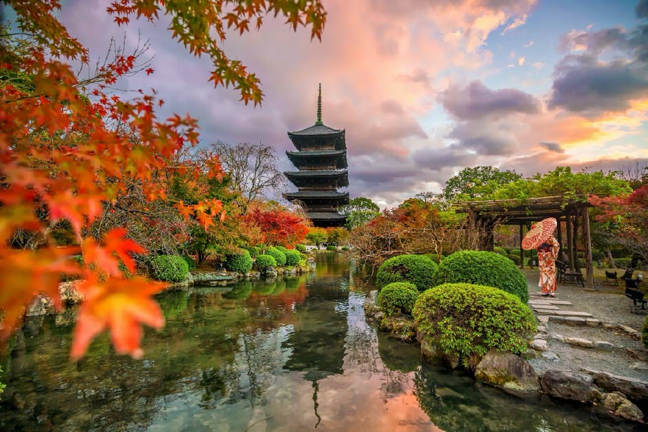 Toji Pagoda, Kyoto. The Saiji pagoda was similar in build. Source: f11photo / Adobe Stock
