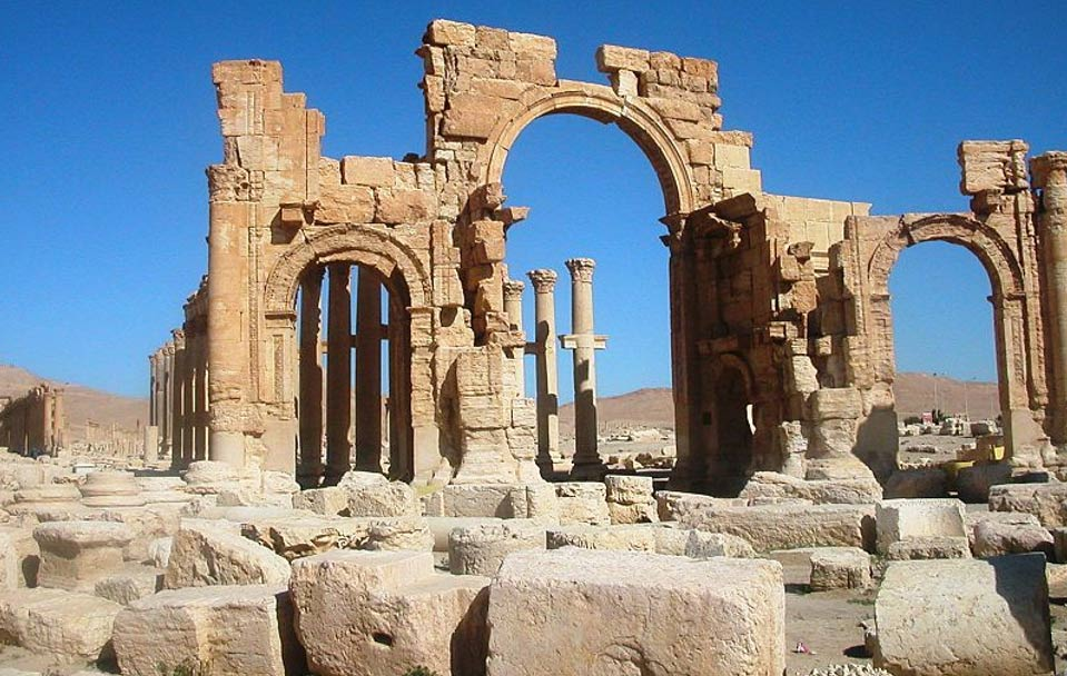 The Arch of Triumph or Arch of Septimius Severus, Palmyra, Syria, 2005