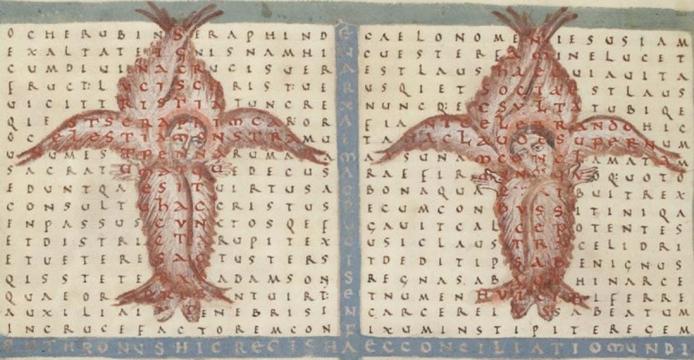 Rabanus' pattern poem a square text on angels. (Goodbichon / Public Domain)