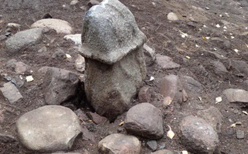 Monument of the stone penis, excavated in Rollsbo near Gothenburg in Sweden. Source: The Archaeologists/NHM.