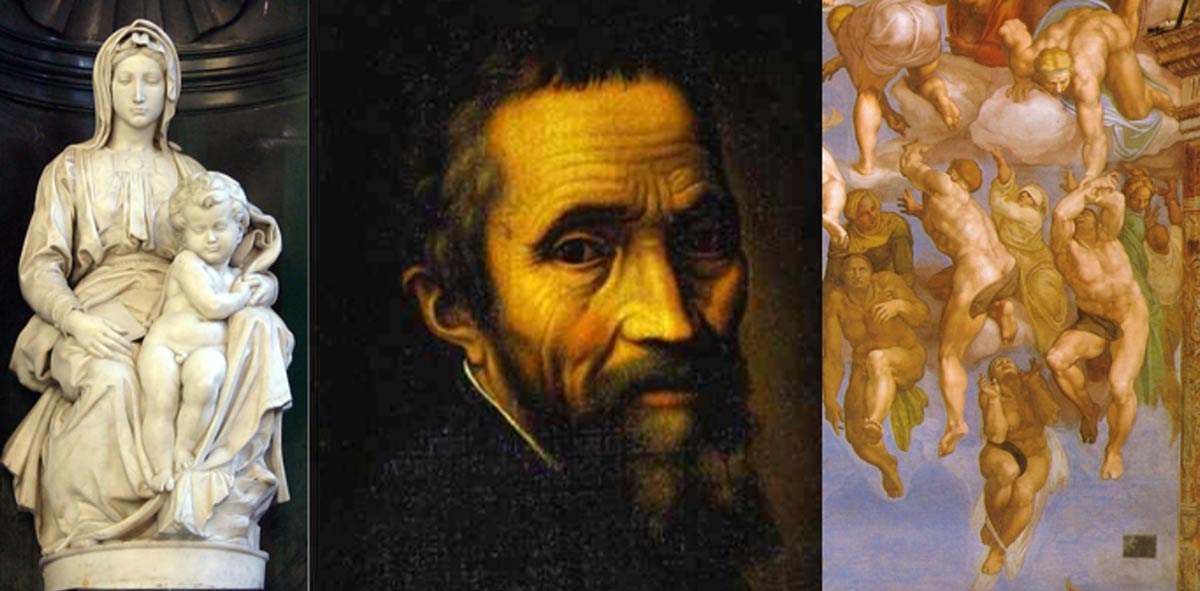 a biography and life work of michelangelo di lodovico buonarroti simoni - michelangelo buonarroti michelangelo di lodovico buonarroti simoni, was a very influential man of his time and of all time michelangelo was born on march 6, 1475, in a small village a part of the florentine territory known as caprese.