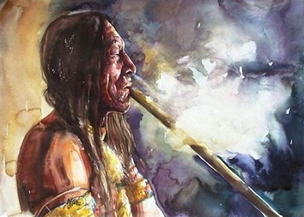 Prehistoric people using hallucinogens in ritual