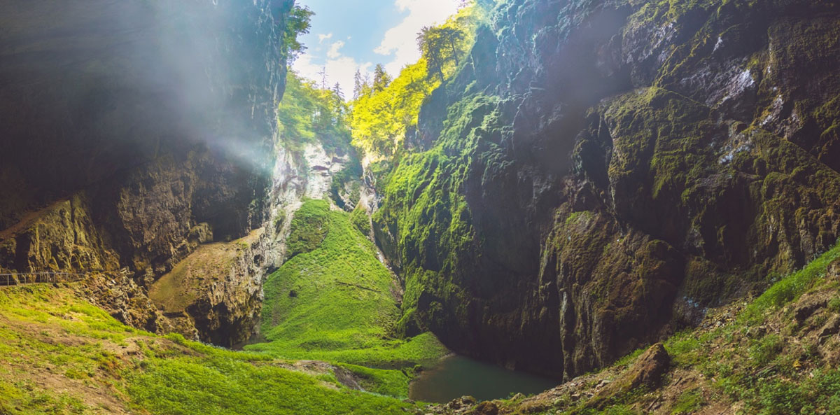 The Macocha Gorge - Sinkhole in the Moravian Karst Punkva caves system     Source: Roman/Adobe Stock