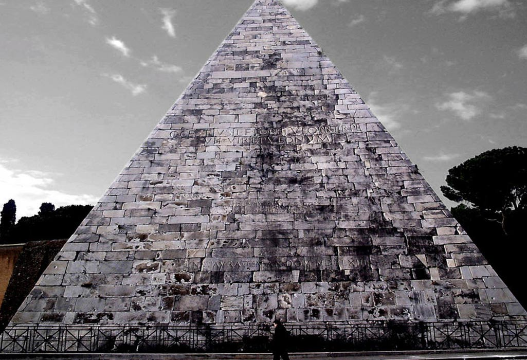 Image result for Pyramid of Cestius in Rome, Italy