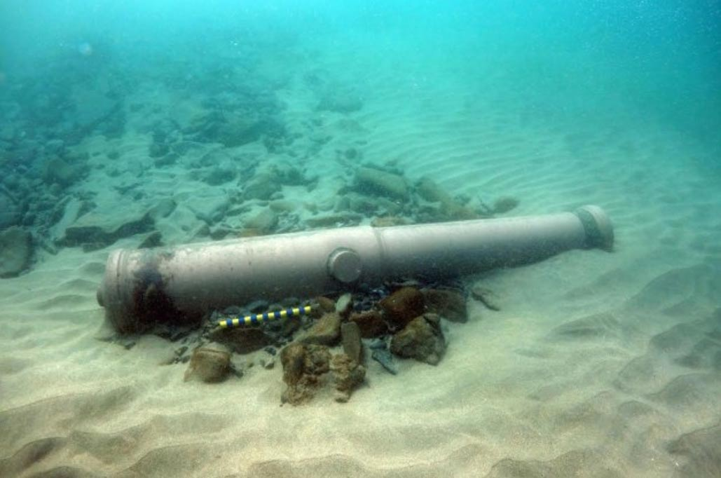 Spanish Armada cannon found off the coast of Ireland.