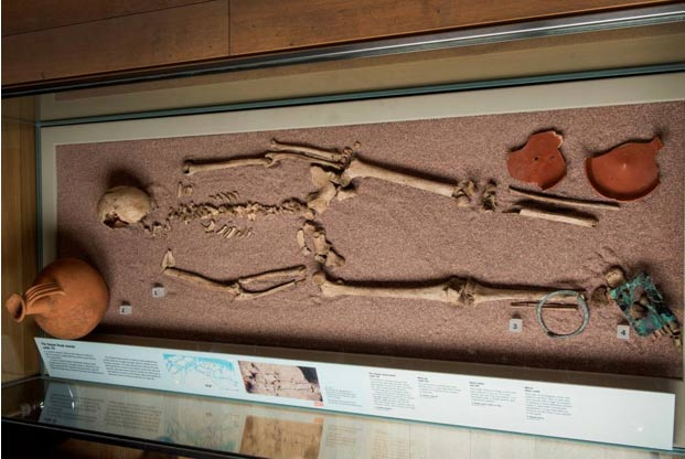 The remains of the woman with male DNA contained grave goods that make researchers think she had high status in her community. (Photo by Museum of London)