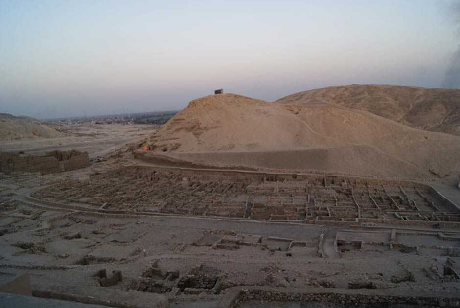 The village of Deir el-Medina in the West Bank of Luxor, Egypt.
