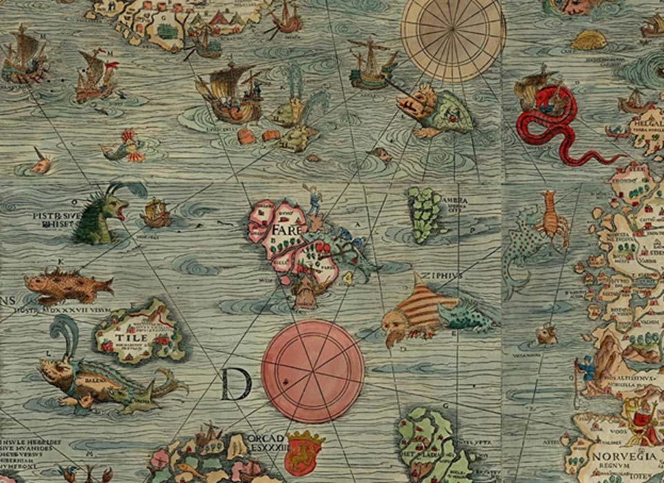Section of the Carta Marina, 1527-39