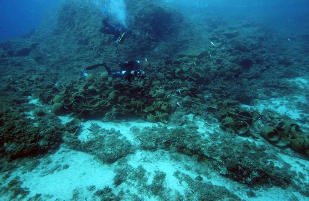 The team found amphoras of a type that have never been found in shipwrecks before. They also found anchors, pottery used by the crew and cooking pots.