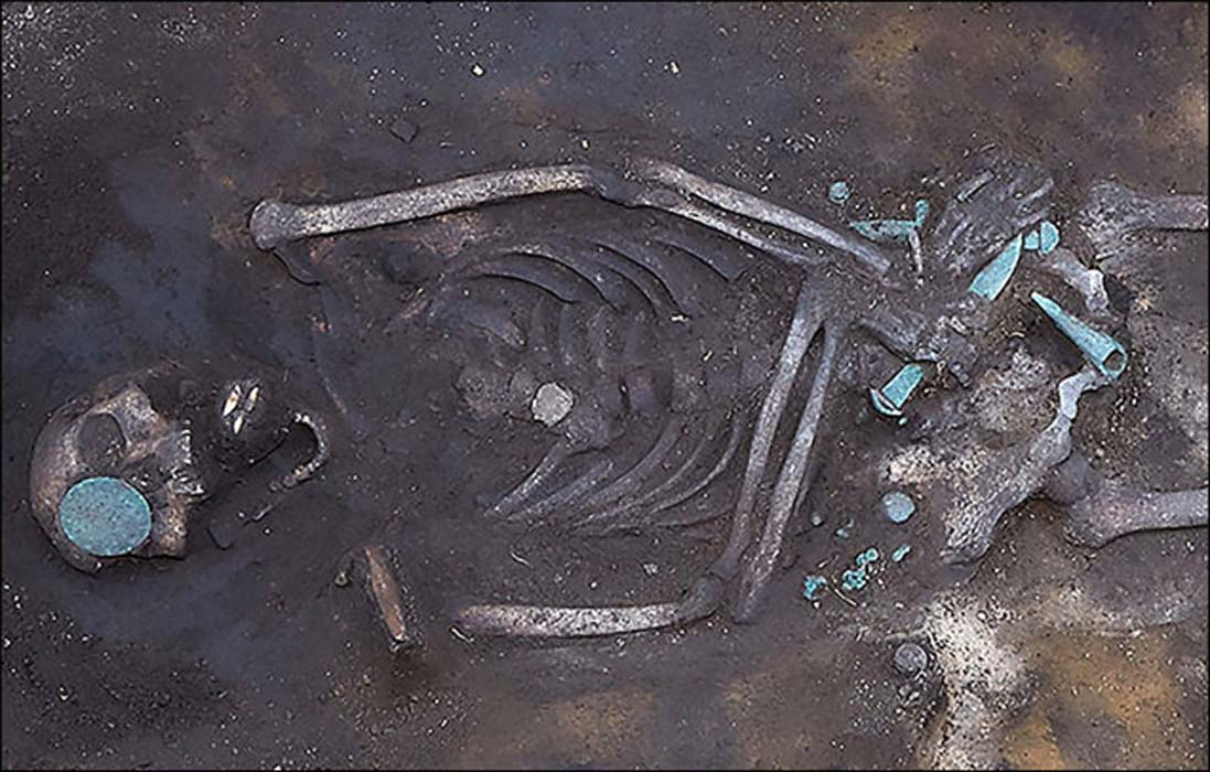 The remains of the ancient warrior.  Picture: Channel12