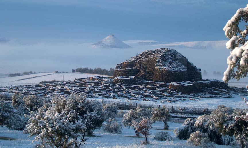 Famous structure of the Nuragic civilization. Su Nuraxi of Barumini, included in the UNESCO list of World Heritage Sites since 1997