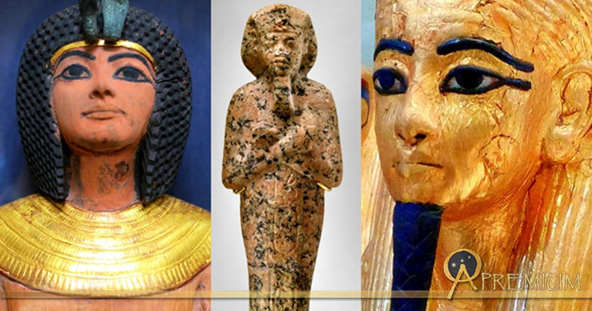 Collection of Egyptian Shabtis, design by Anand Balaji