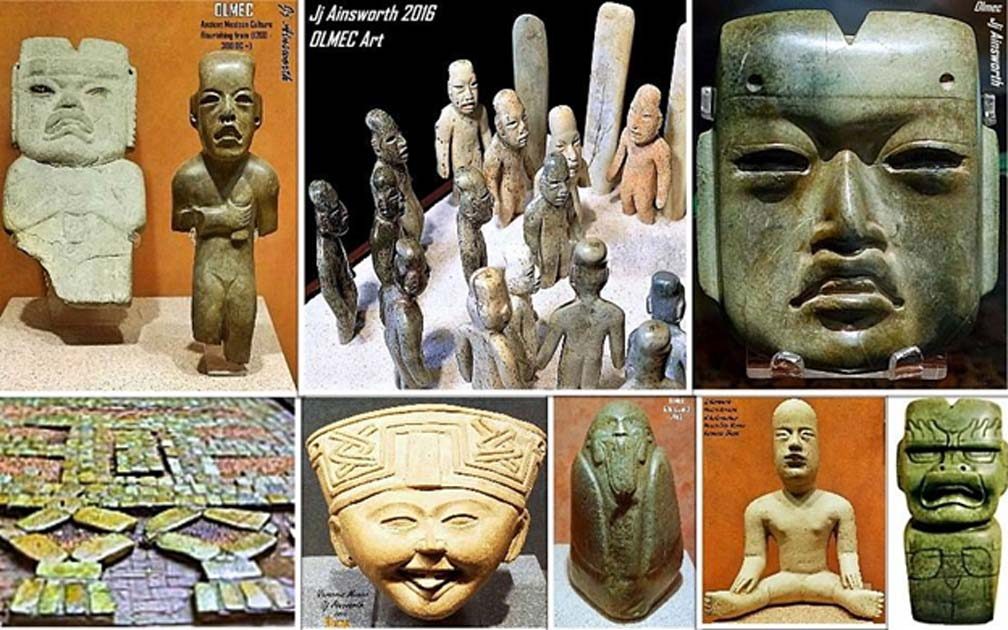 Examples of Olmec art.