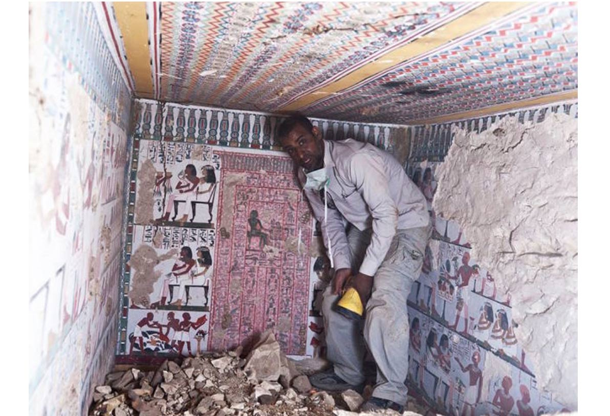 Two 3,500-year-old tombs adorned with vivid paintings unearthed in Egypt