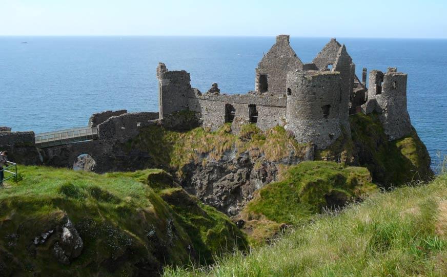 View of Dunluce Castle, County Antrim, Ireland